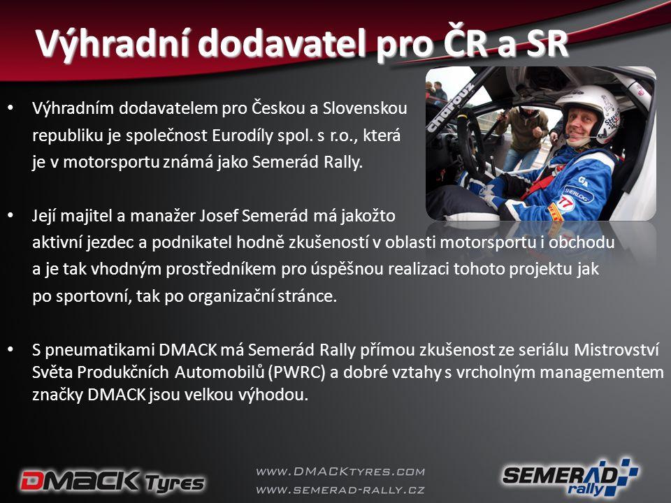 Výhradní dodavatel pro ČR a SR • Výhradním dodavatelem pro Českou a Slovenskou republiku je společnost Eurodíly spol. s r.o., která je v motorsportu z