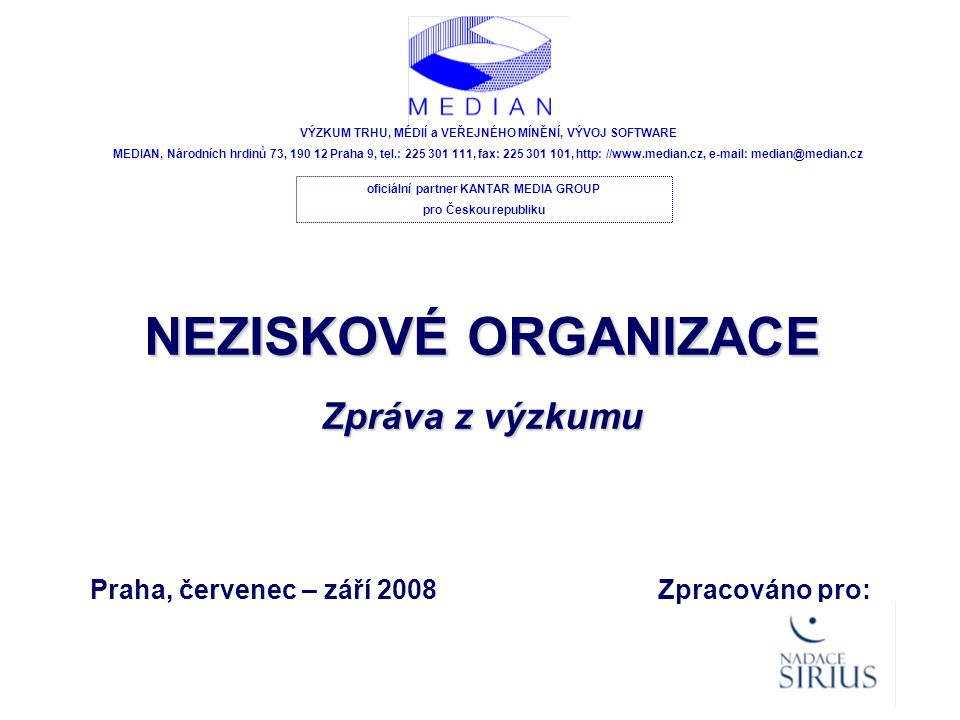 NEZISKOVÉ ORGANIZACE - 52 - Olomoucký kraj I.