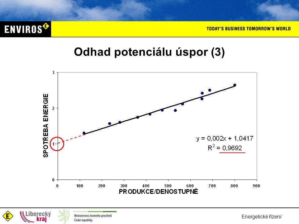 Energetické řízení Odhad potenciálu úspor (3)