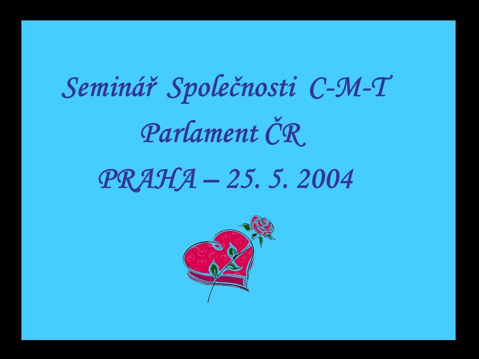 Seminář Společnosti C-M-T Parlament ČR PRAHA – 25. 5. 2004