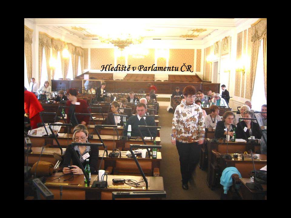 Hlediště v Parlamentu ČR
