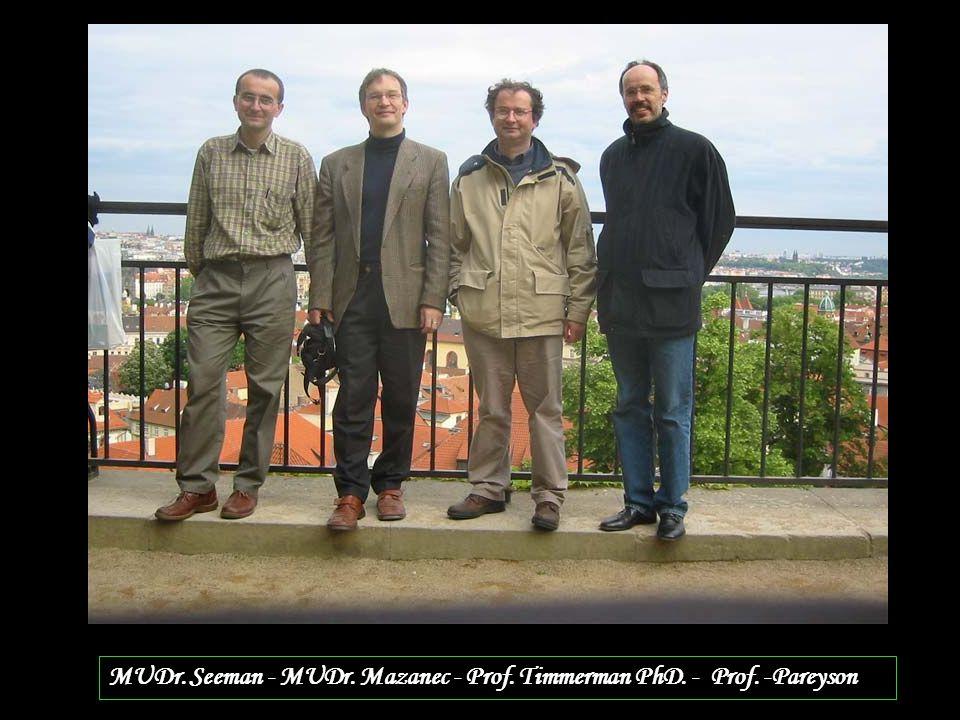 MUDr. Seeman - MUDr. Mazanec - Prof. Timmerman PhD. - Prof. -Pareyson