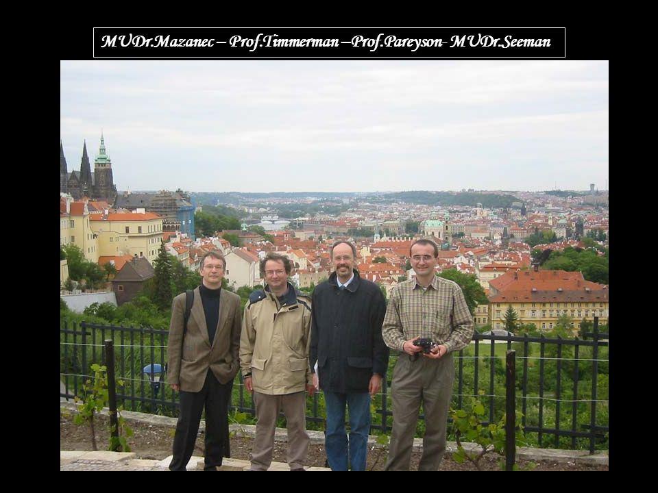 MUDr.Mazanec – Prof.Timmerman –Prof.Pareyson- MUDr.Seeman