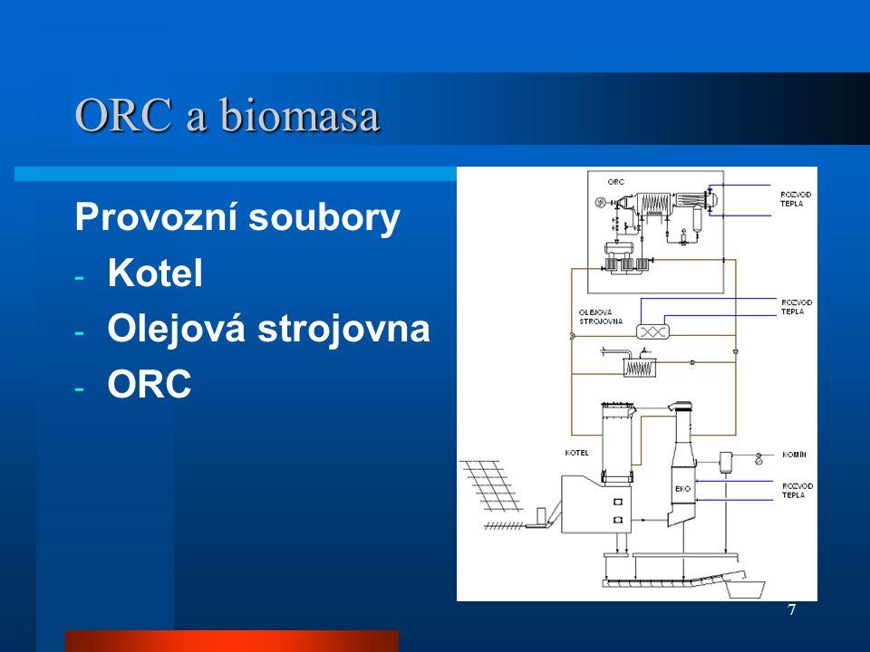 7 ORC a biomasa Provozní soubory - Kotel - Olejová strojovna - ORC