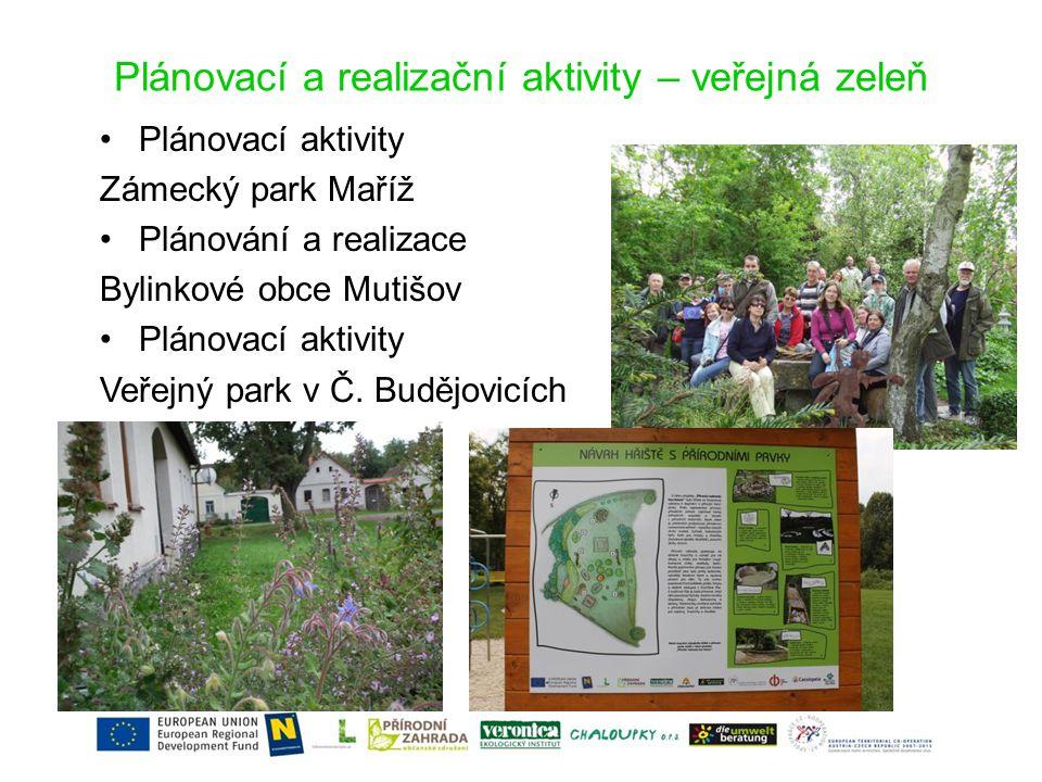 Děti a zahrady •Další vzdělávání pedagogů 19.-21.8.2010 •Konference Děti a zahrady 8.-9.10.2010