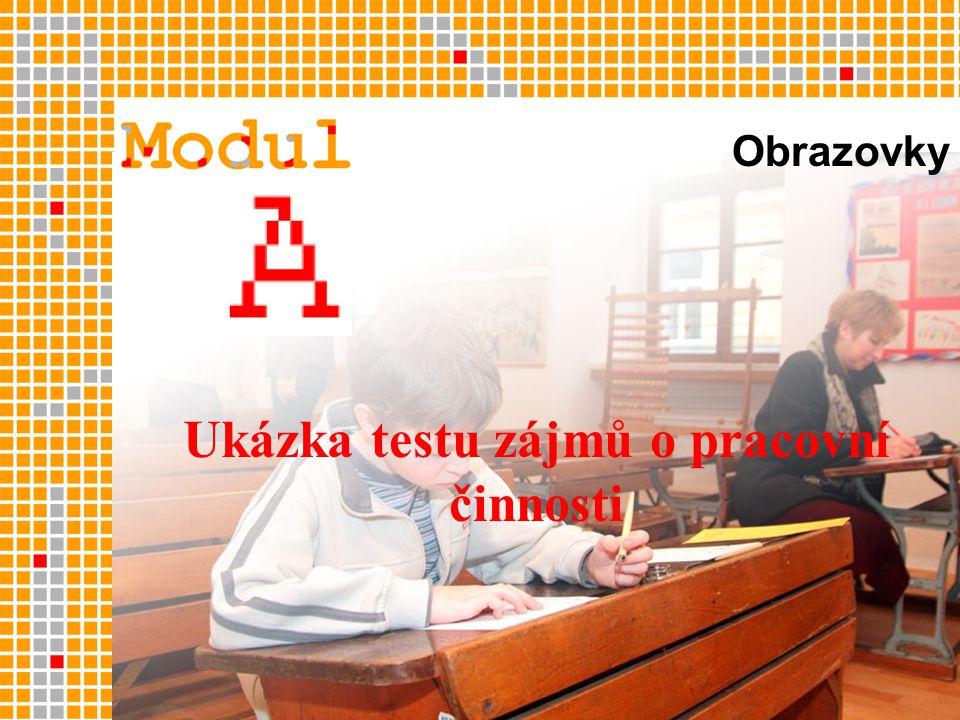 Ukázka testu zájmů o pracovní činnosti