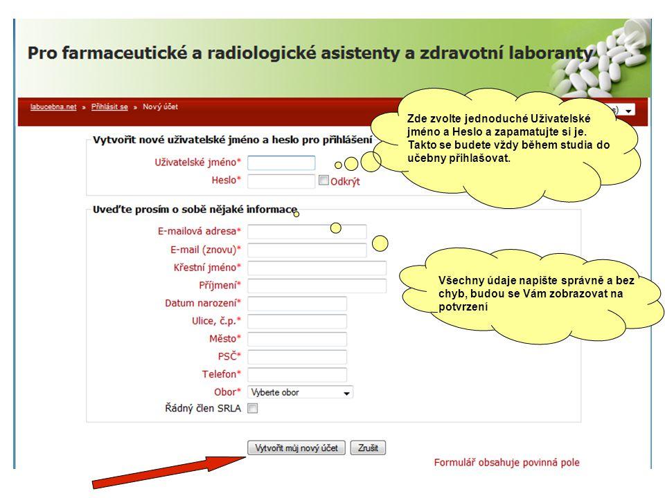 Po vyplnění a odeslání formuláře dostanete automaticky výzvu k platbě s číslem účtu a variabilním symbolem.