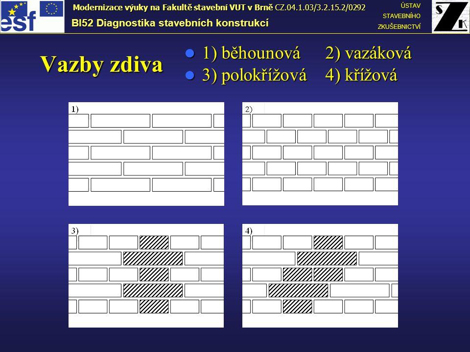B.ZKOUŠKY CIHELNÉHO ZDIVA •Zkoušky zdiva na stávající konstrukci (např.