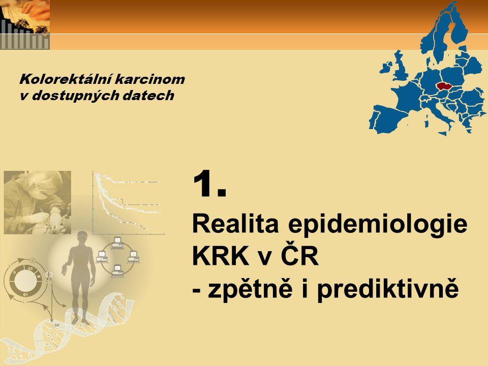 1. Realita epidemiologie KRK v ČR - zpětně i prediktivně Kolorektální karcinom v dostupných datech