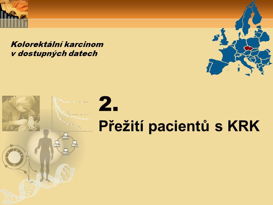 2. Přežití pacientů s KRK Kolorektální karcinom v dostupných datech