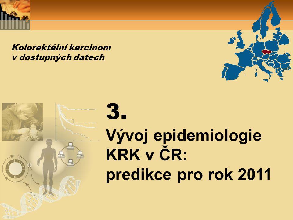 3. Vývoj epidemiologie KRK v ČR: predikce pro rok 2011 Kolorektální karcinom v dostupných datech