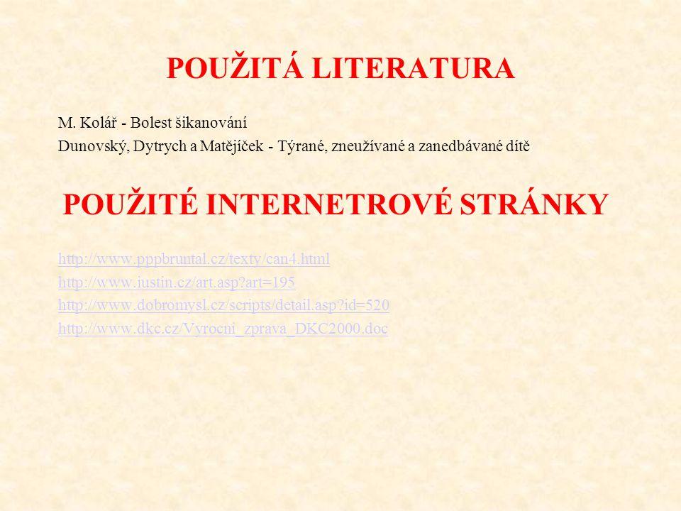 POUŽITÁ LITERATURA M.