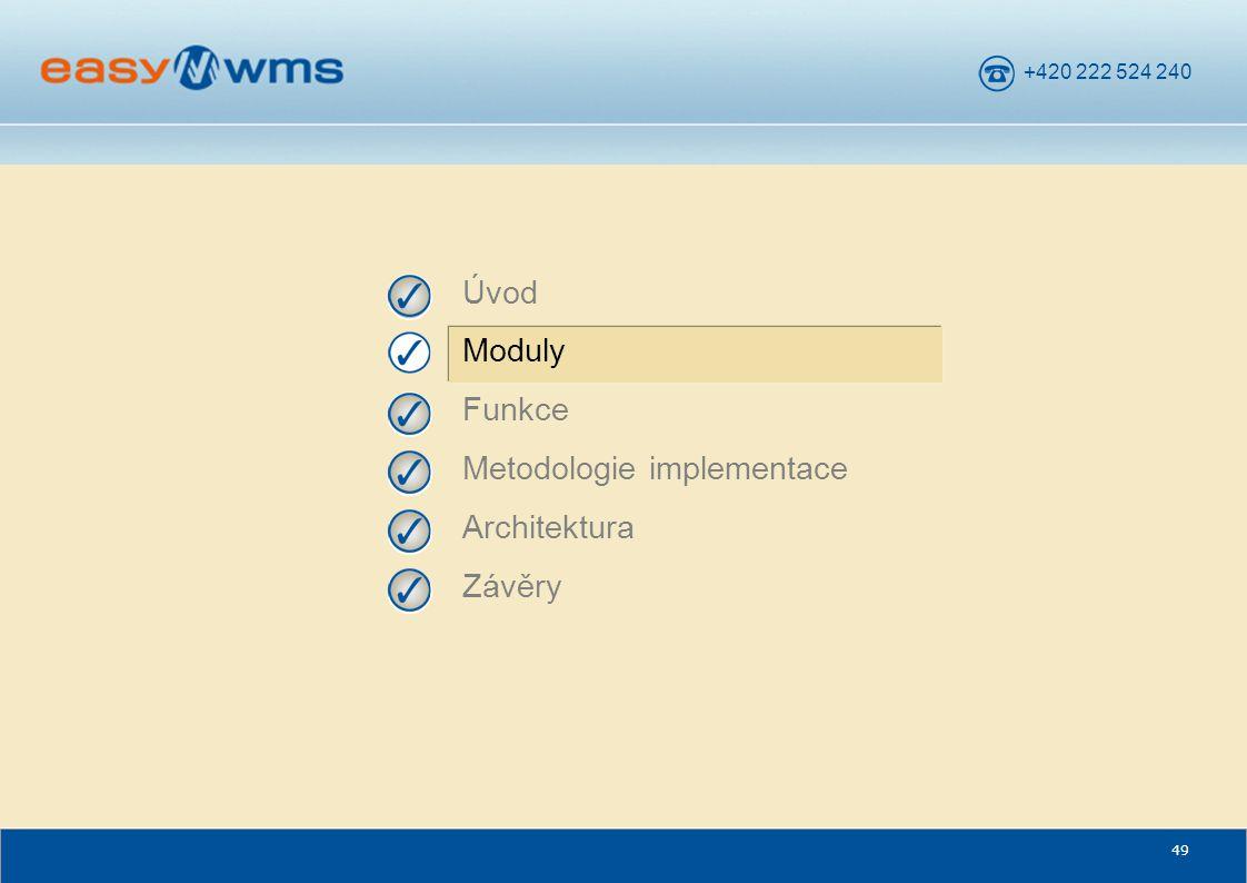 +420 222 524 240 49 Úvod Moduly Funkce Metodologie implementace Architektura Závěry