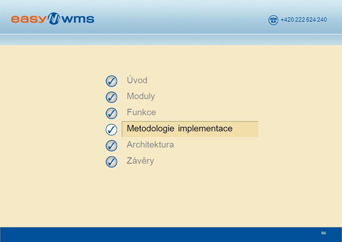 +420 222 524 240 86 Úvod Moduly Funkce Metodologie implementace Architektura Závěry