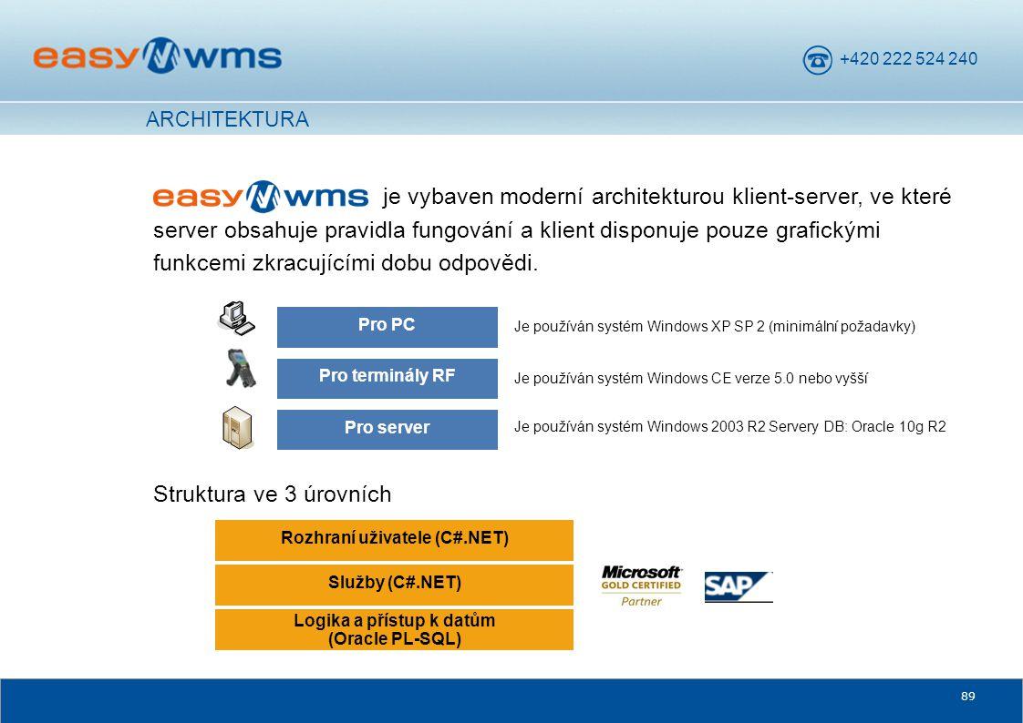 +420 222 524 240 89 je vybaven moderní architekturou klient-server, ve které server obsahuje pravidla fungování a klient disponuje pouze grafickými fu