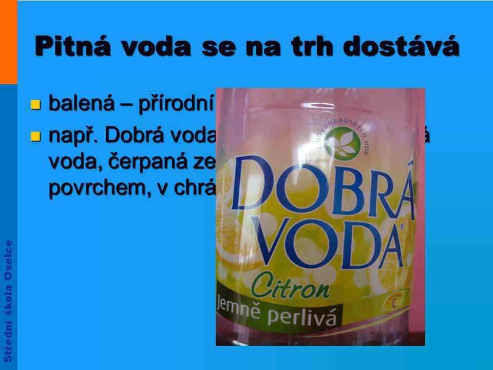 Střední škola Oselce Rozdělení nealkoholických nápojů 1.
