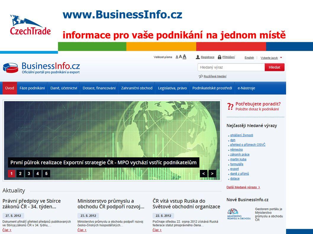 15 www.BusinessInfo.cz informace pro vaše podnikání na jednom místě 15