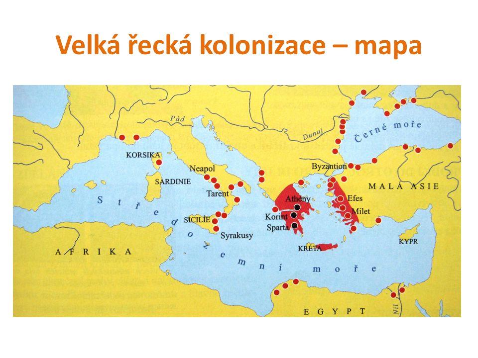 Velká řecká kolonizace – mapa