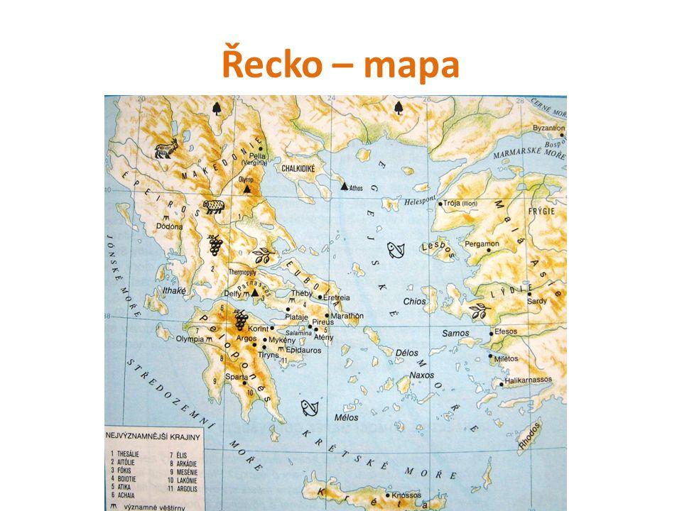 Počátky řecké civilizace Řecko se rozkládá na dvou poloostrovech: Balkánský a Peloponéský.