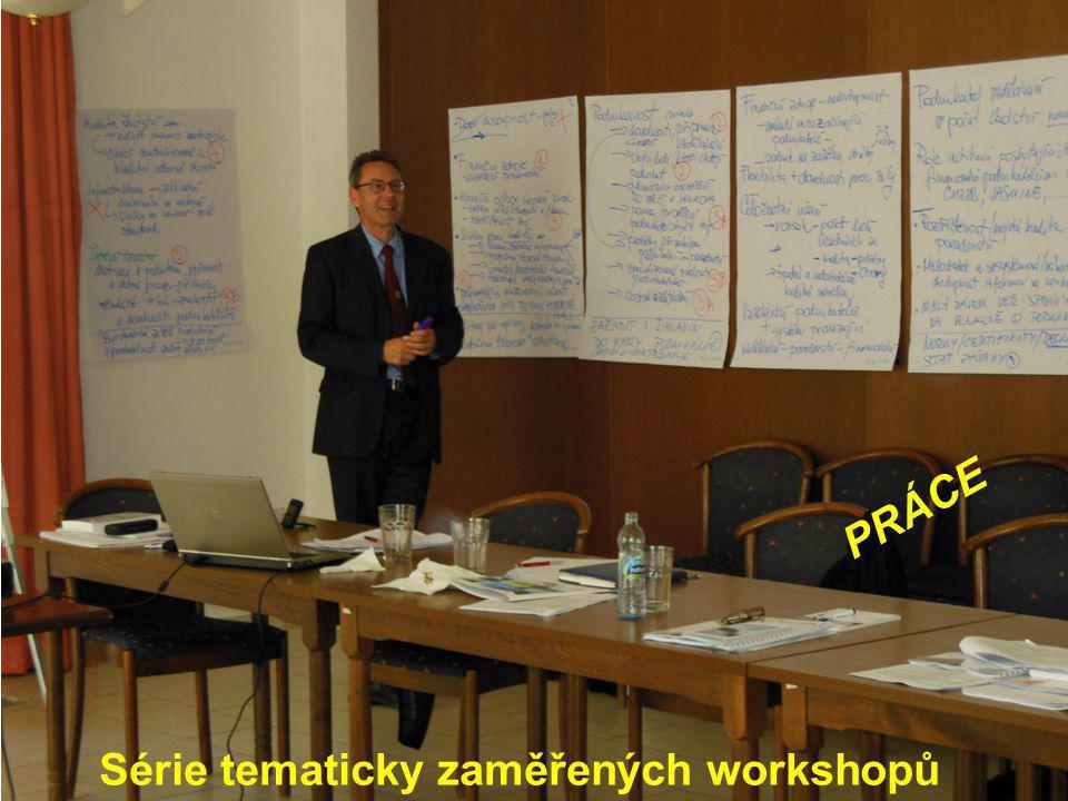 Série tematicky zaměřených workshopů PRÁCE