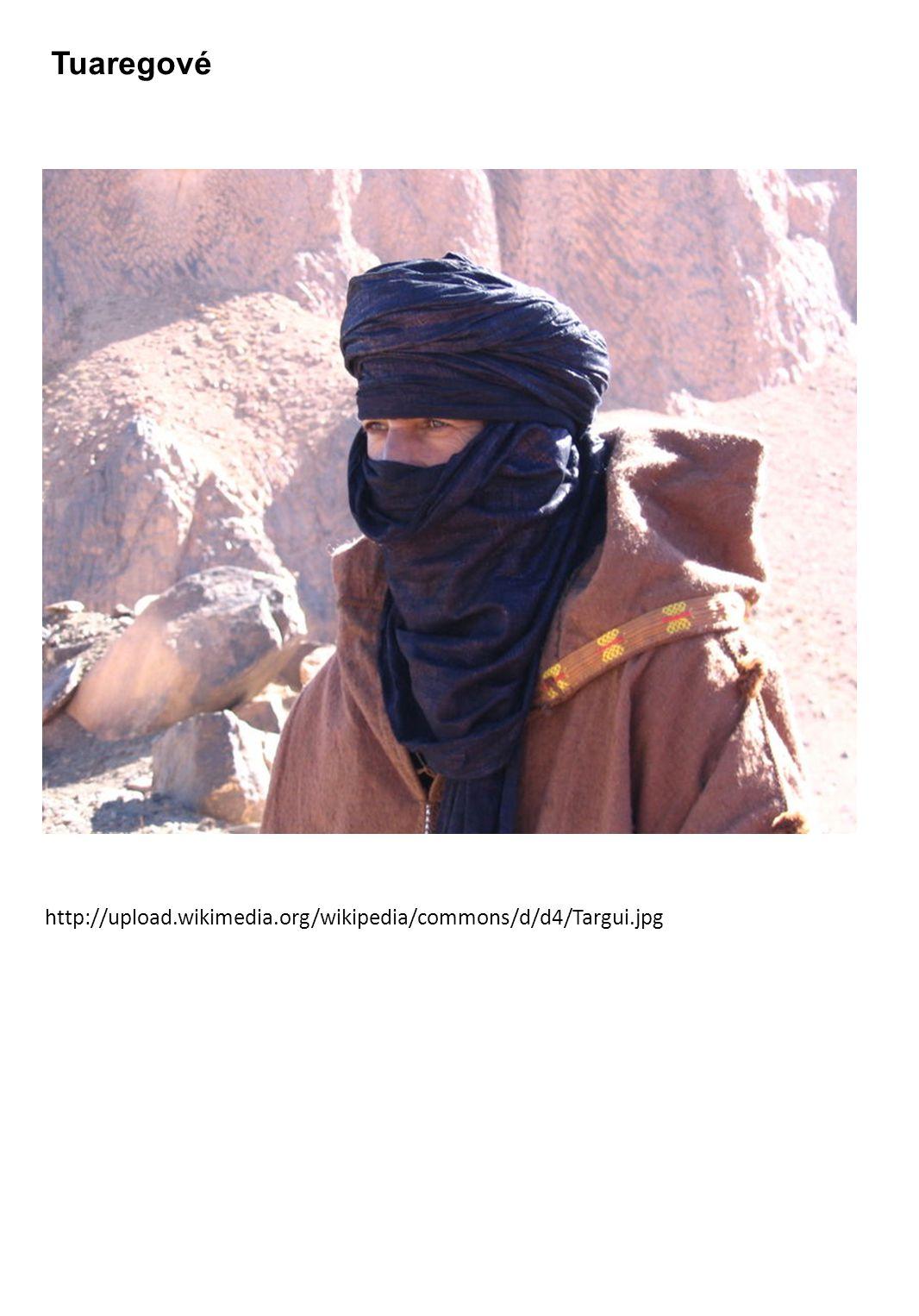 Tuaregové http://upload.wikimedia.org/wikipedia/commons/d/d4/Targui.jpg