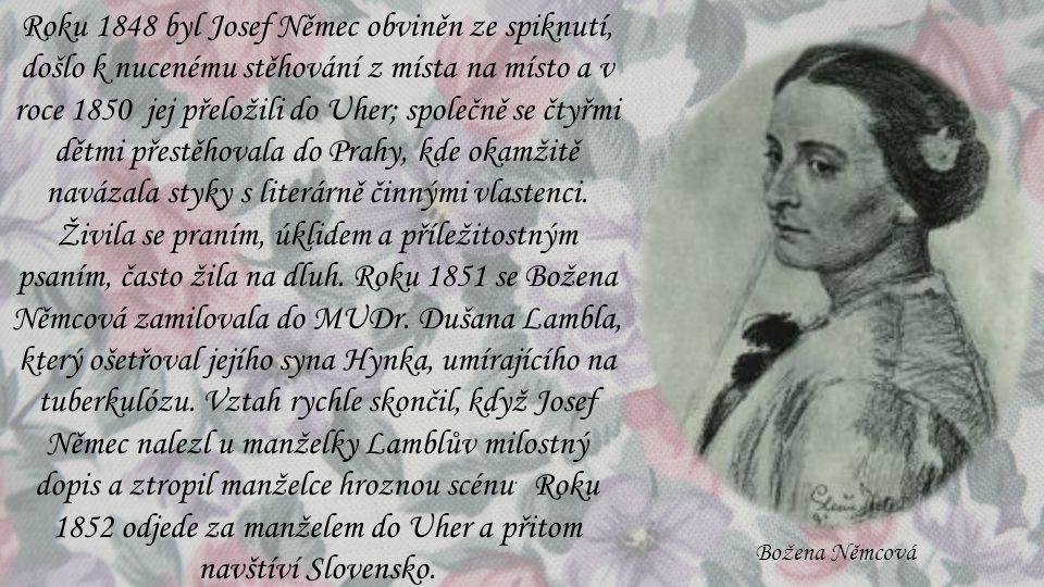 Roku 1848 byl Josef Němec obviněn ze spiknutí, došlo k nucenému stěhování z místa na místo a v roce 1850 jej přeložili do Uher; společně se čtyřmi dět