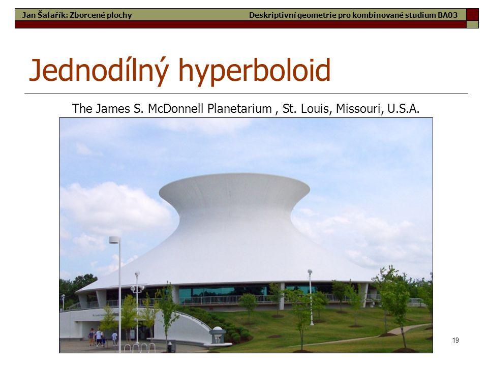 19 Jednodílný hyperboloid The James S.McDonnell Planetarium, St.