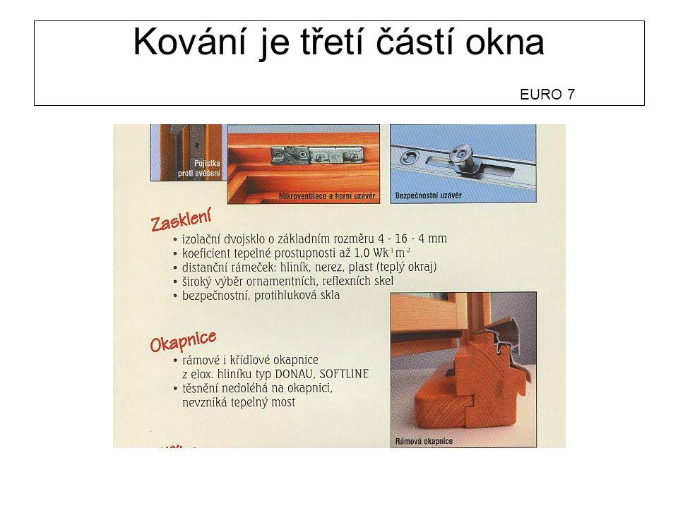 Kování je třetí částí okna EURO 7