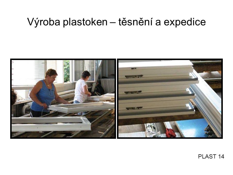Výroba plastoken – těsnění a expedice PLAST 14