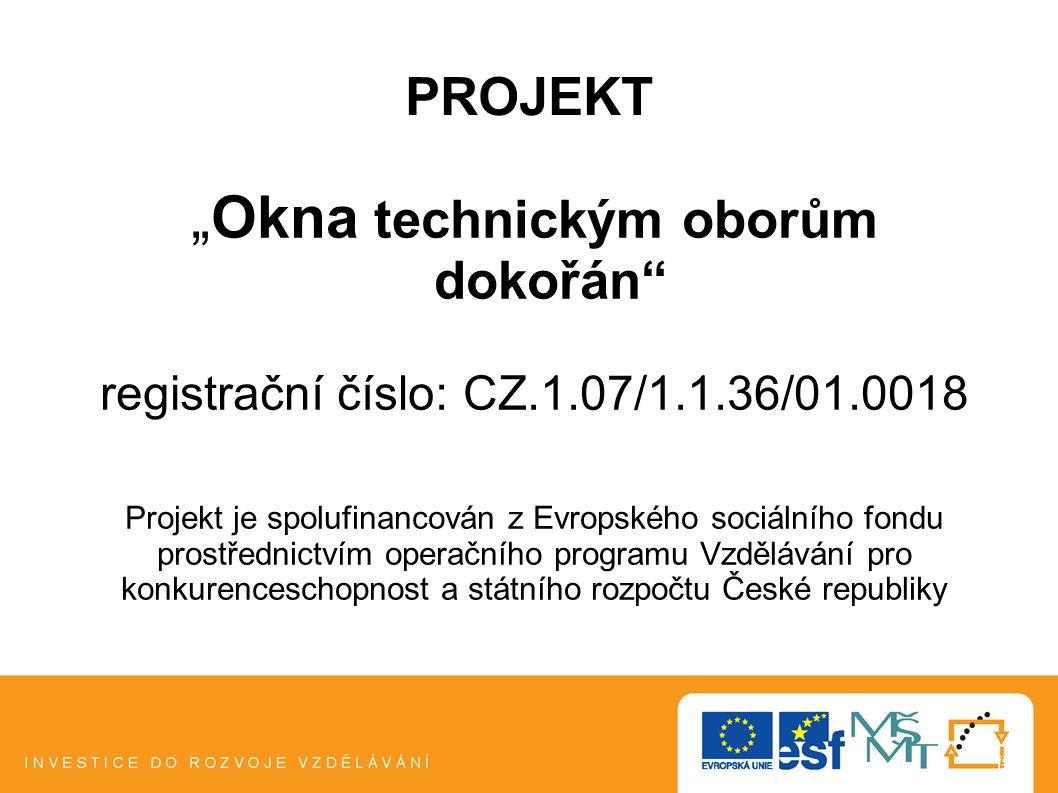 REALIZÁTOR PROJEKTU Krajská hospodářská komora kraje Vysočina