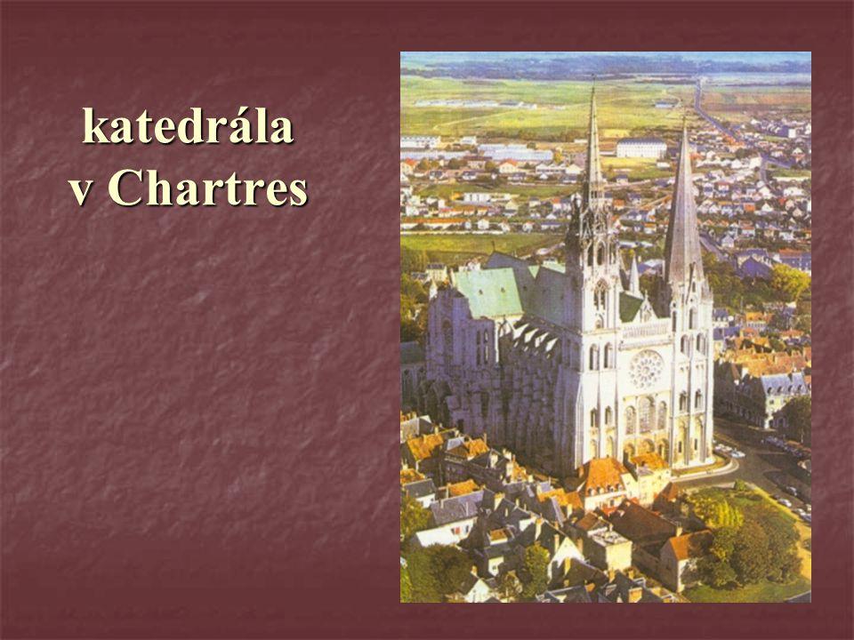 katedrála v Chartres