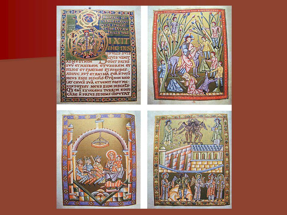 Vazba strahovského evangeliáře Nejstarší část - vazba pochází z doby prvních Přemyslovců, další části byly doplněny v gotice a renesanci