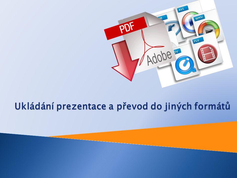 Nově vytvořená prezentace má symbolické jméno Prezentace1.