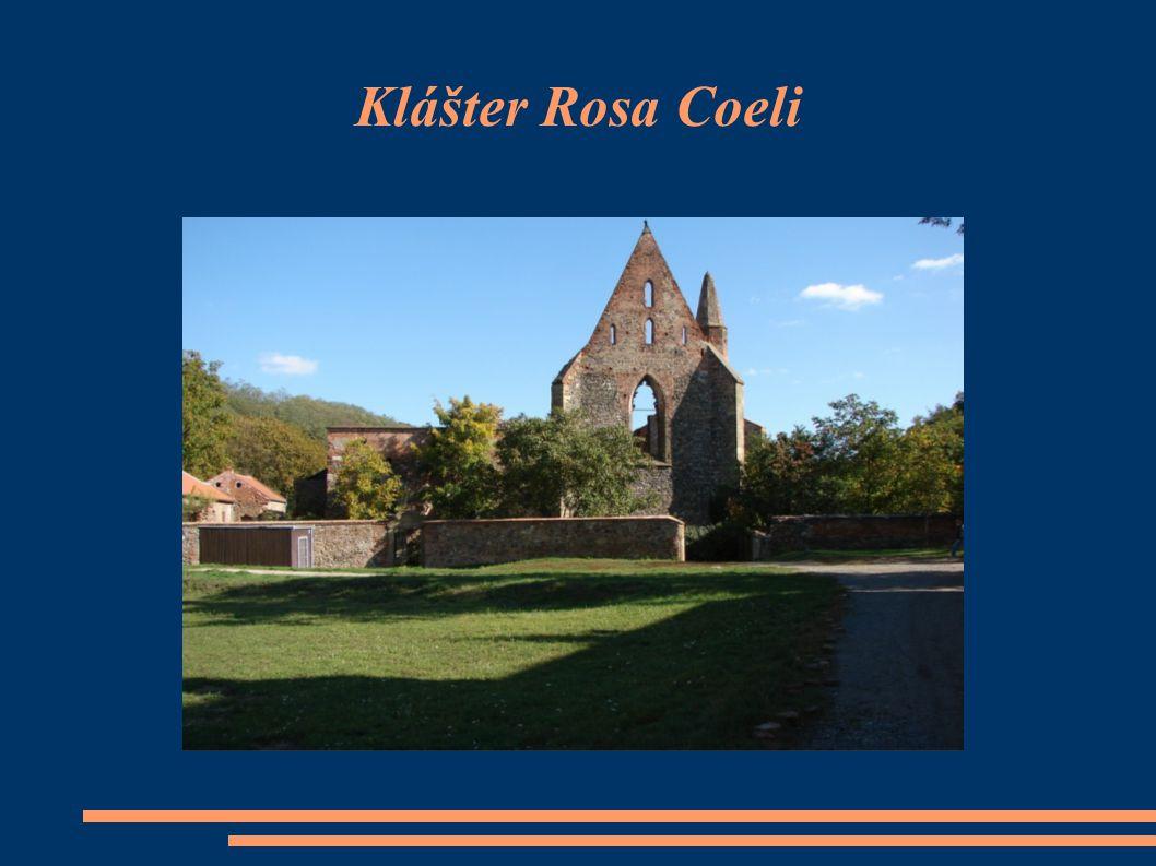 Poloha  Zřícenina kláštera Rosa coeli se nachází v údolí řeky Jihlavy přímo pod hradním kopcem