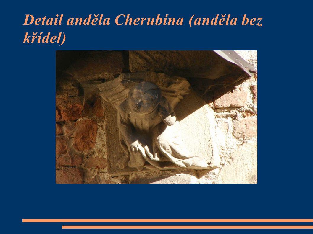Detail anděla Cherubína (anděla bez křídel)