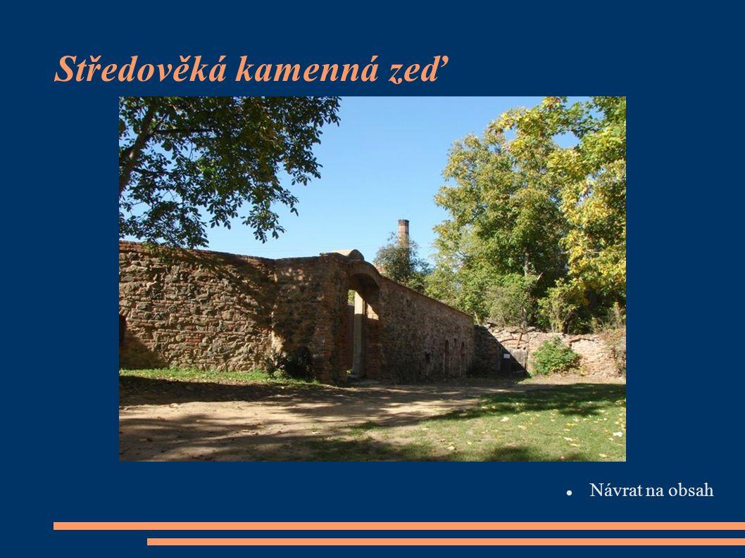 Středověká kamenná zeď  Návrat na obsah Návrat na obsah