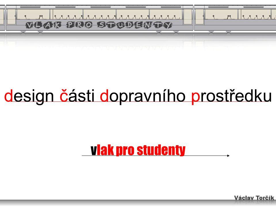 design části dopravního prostředku vlak pro studenty