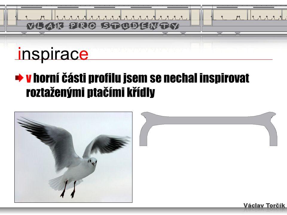 inspirace v horní části profilu jsem se nechal inspirovat roztaženými ptačími křídly