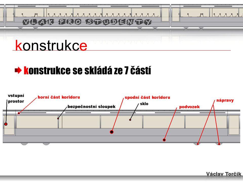 horní část koridoru nejsložitější profil celé konstrukce aerodynamicky řešeno otvory pro el.