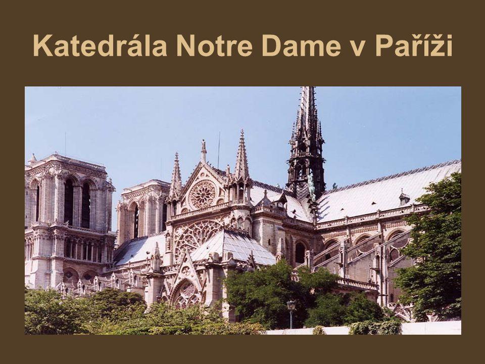 Katedrála Notre Dame v Paříži