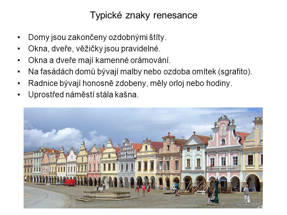 Renesanční památky ve tvém okolí •Slavonice