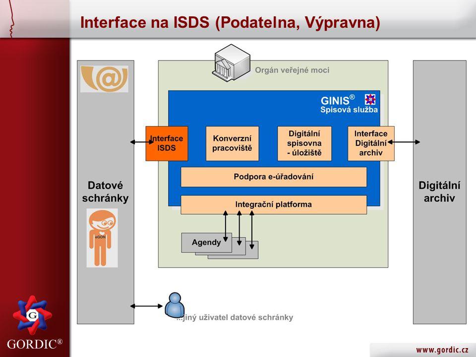 Interface na ISDS (Podatelna, Výpravna)