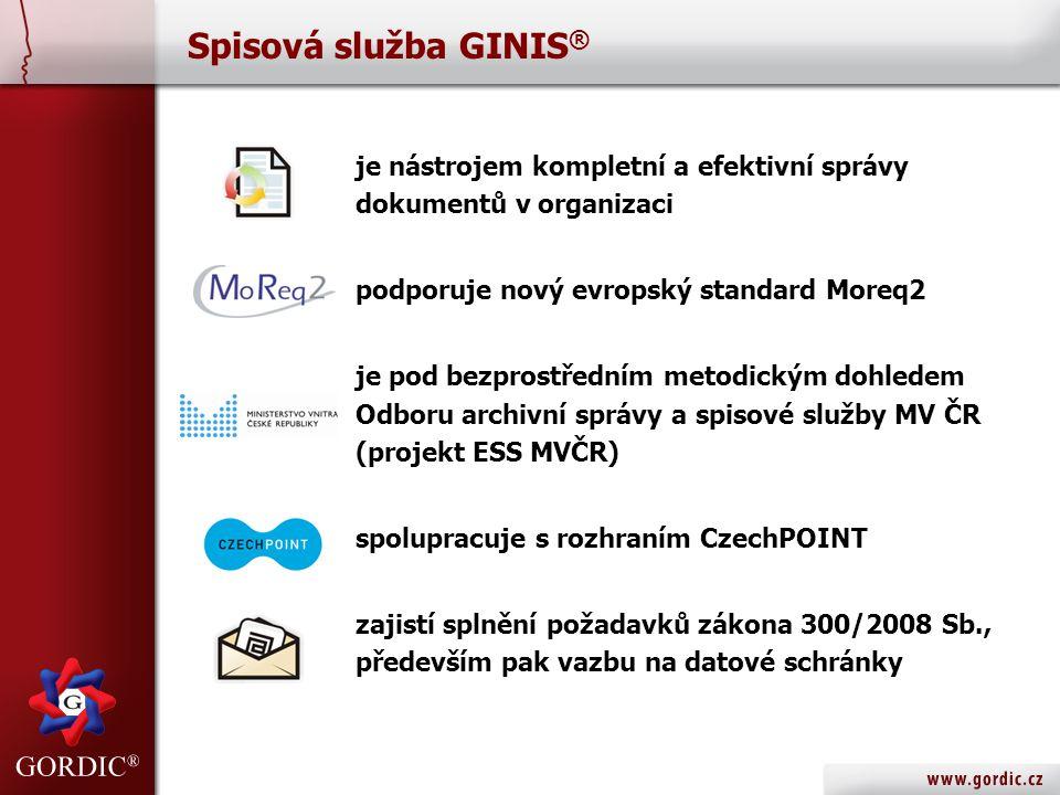 GINIS ® SSD – Spisová služba LITE Ukázka evidenční karty dokumentu