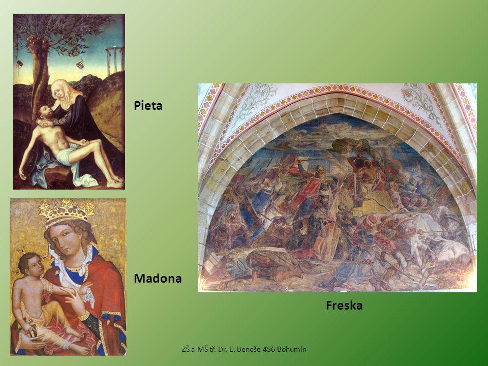Madona Pieta Freska ZŠ a MŠ tř. Dr. E. Beneše 456 Bohumín