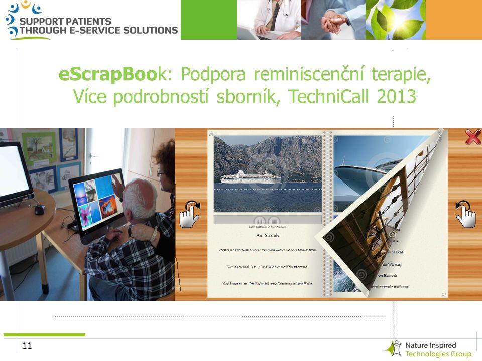 11 eScrapBook: Podpora reminiscenční terapie, Více podrobností sborník, TechniCall 2013