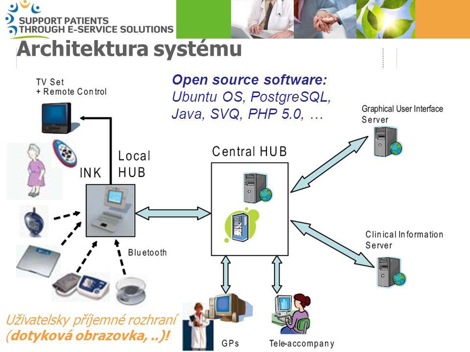 5 Architektura systému Open source software: Ubuntu OS, PostgreSQL, Java, SVQ, PHP 5.0, … Uživatelsky příjemné rozhraní (dotyková obrazovka,..)!