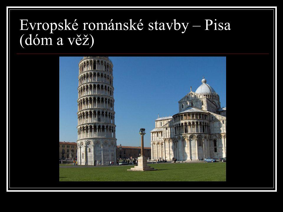 Evropské románské stavby – Pisa (dóm a věž)