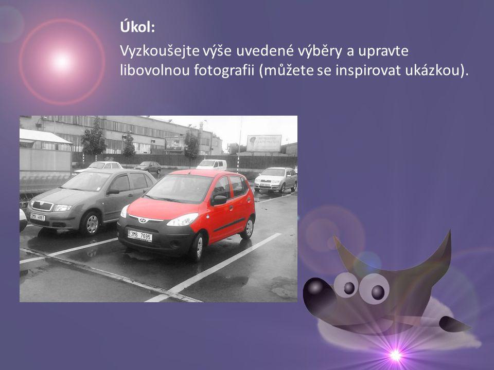 Úkol: Vyzkoušejte výše uvedené výběry a upravte libovolnou fotografii (můžete se inspirovat ukázkou).