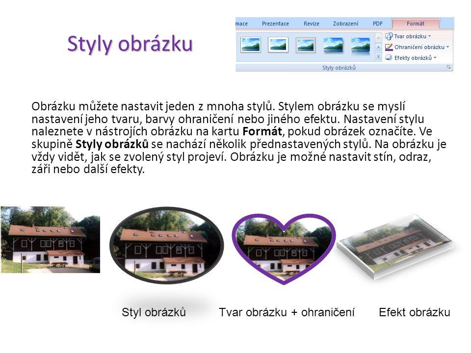 Úpravy obrázku Ve skupině Upravit se zaměříme na základní úpravy jako je nastavení jasu, kontrastu nebo přebarvení obrázku. Pod tlačítkem Jas se skrýv