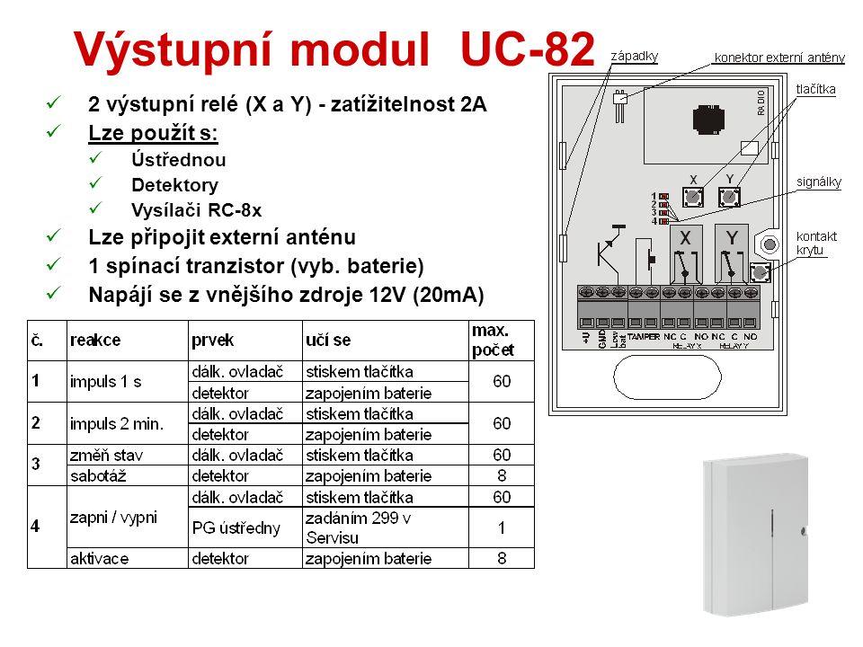 Interface WJ-80  Připojuje externí klávesnici do sběrnice ústředny  Zabudovaný vysílač zvonku (pro JA-80L)  Výstup pro ovládání dveřního zámku (řad